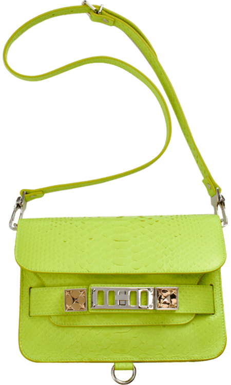 I'm planning on savoring every last drop of the season's bright hues, and this Proenza Schouler PS11 Mini Classic Python Bag ($2,995) bag will be a huge part of my late Summer looks. I love the luxe python detailing, and the leather tab is perfect for carrying as a clutch come evening. — Brittney Stephens, assistant editor