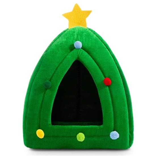 Warming Christmas Tree Cat Bed From Amazon