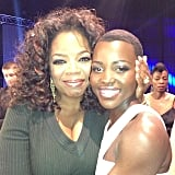 Oprah linked up with Lupita Nyong'o at the Critics' Choice Awards. Source: Instagram user oprah