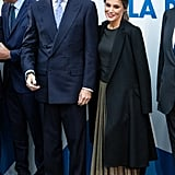 Queen Letizia's Pleated Midi Skirt November 2018