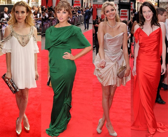 Pictures from the 4321 Premiere in London including Emma Roberts, Tamsin Egerton, Michelle Ryan, Ophelia Lovibond Ashley Madekwe