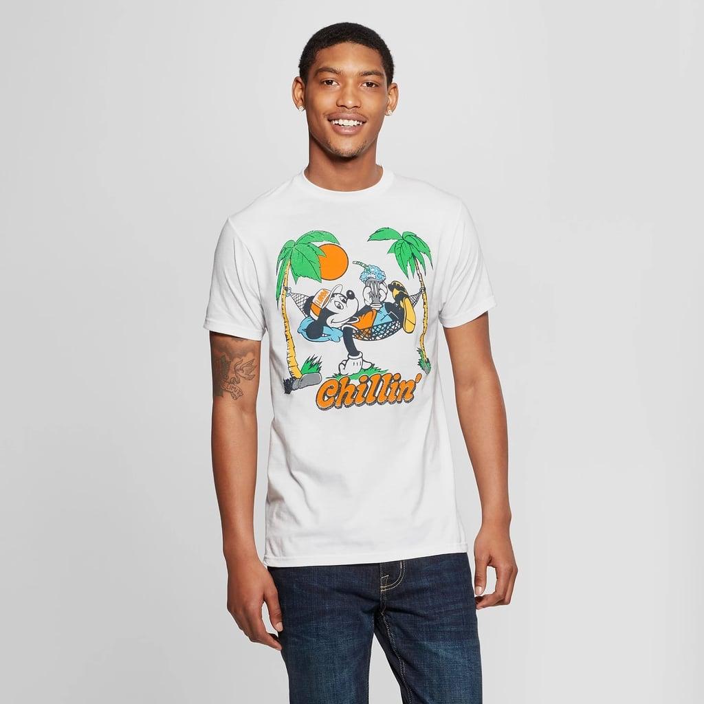 Men's Mickey Mouse Short Sleeve Florida Hammock Graphic T-Shirt