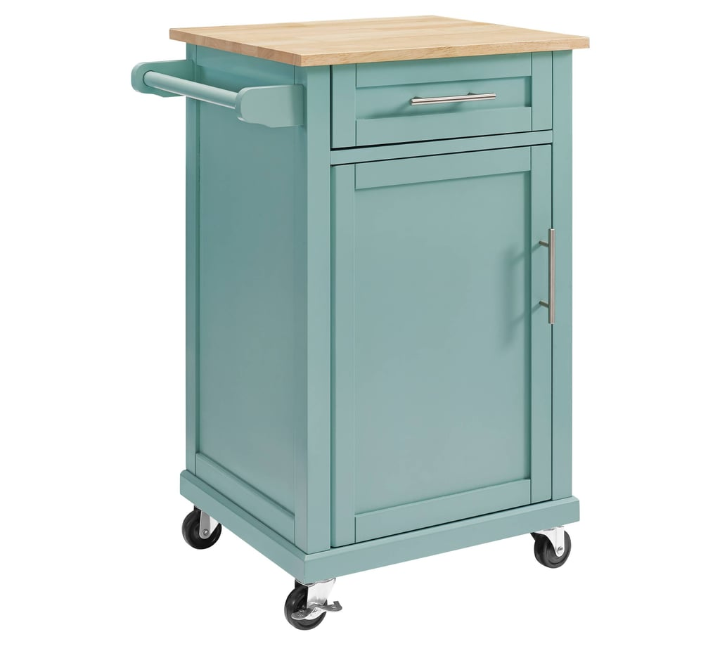 Small Blue Kitchen Cart | Kitchen Islands For Small Kitchens ...