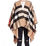 Burberry Charlotte Reversible Check Wool Cape
