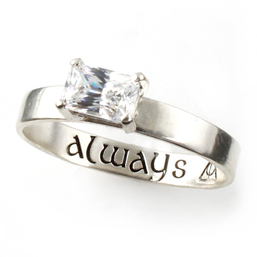 "Sterling Silver and Cubic Zirconia ""Always"" Engagement Ring ($187)"