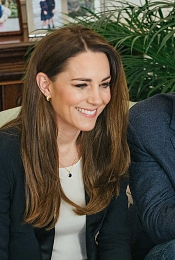 Kate Middleton Traded Her Waves For a Straight Hairstyle