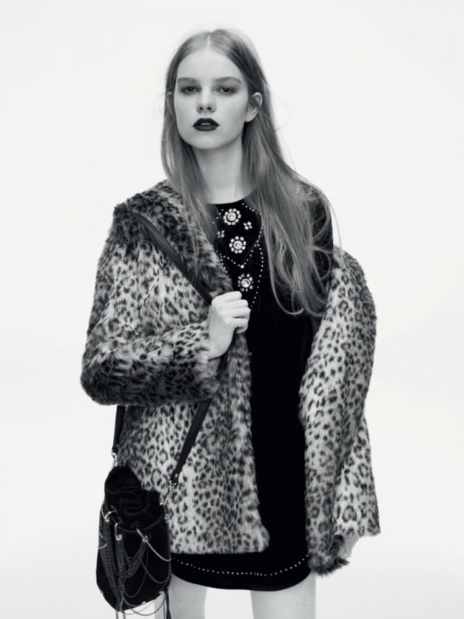 Leopard print coat is sticking around for another season.