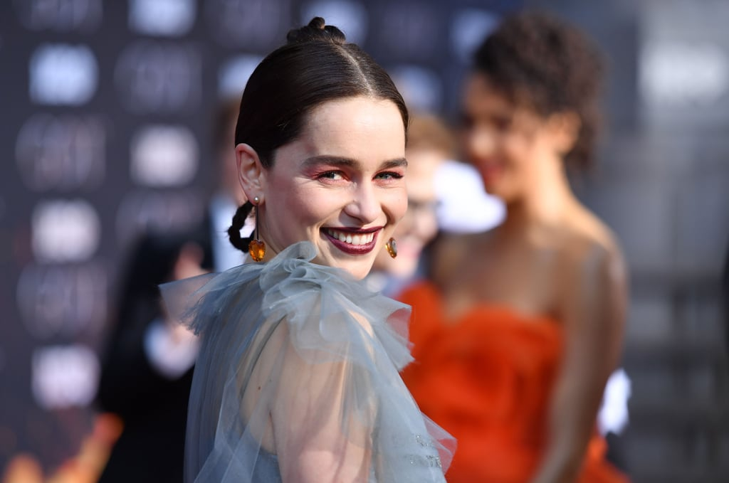 Emilia Clarke Braid Hairstyle Game of Thrones Premiere 2019