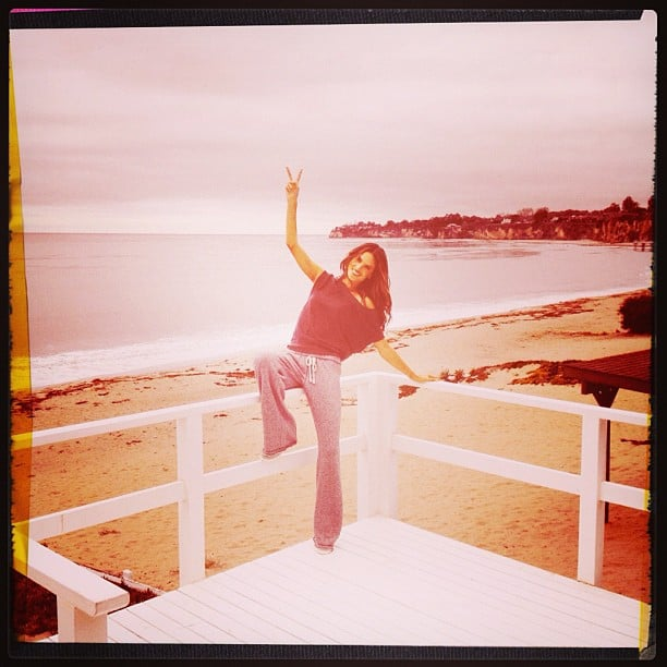 Alessandra Ambrosio chilled out in Malibu, CA. Source: Twitter user AngelAlessandra
