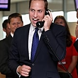 Prince William chatted about Prince George.