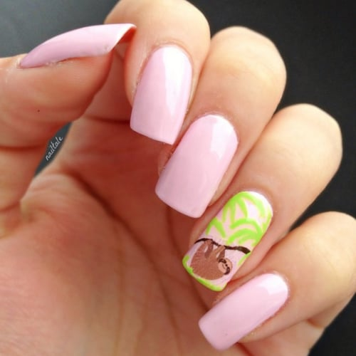 Sloth Nail Art Ideas