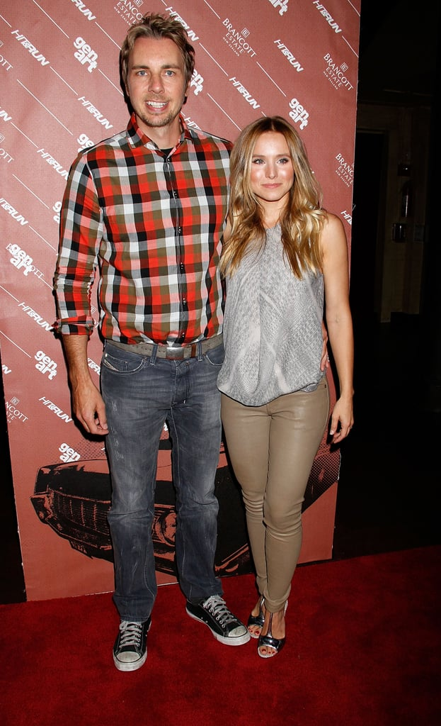 Dax Shepard and Kristen Bell stayed close at the Hit and Run screening in NYC.
