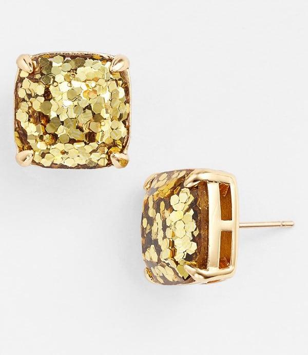 Kate Spade Glitter Gold Stud Earrings ($38)