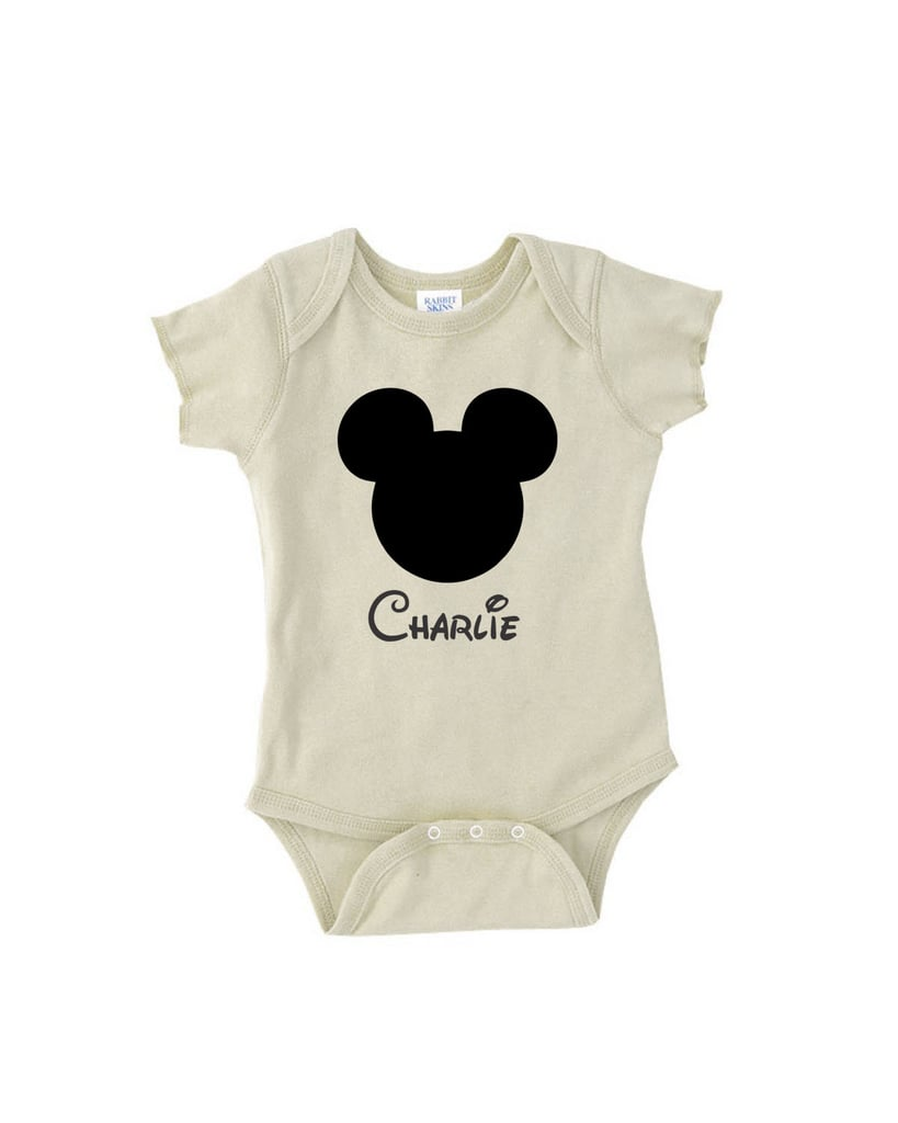 Personalized Mickey Ears Onesie