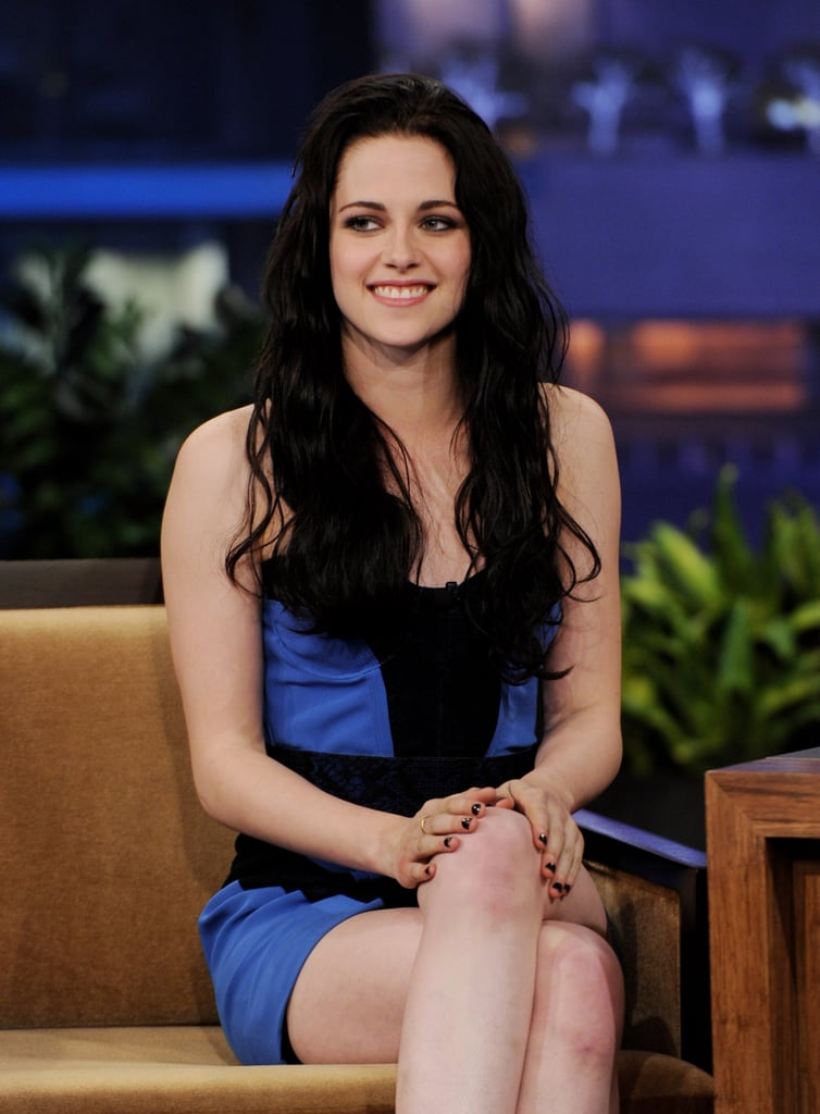Kristen Stewart smiled on the set of The Tonight Show.