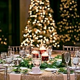 Gold Shimmering Tablecloth