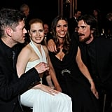Back in 2011, the pair chatted up Amy's American Hustle costar Christian Bale and his wife at the Screen Actors Guild Awards.