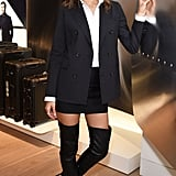 Alessandra Ambrosio and Adriana Lima Wearing Tuxedo Trend