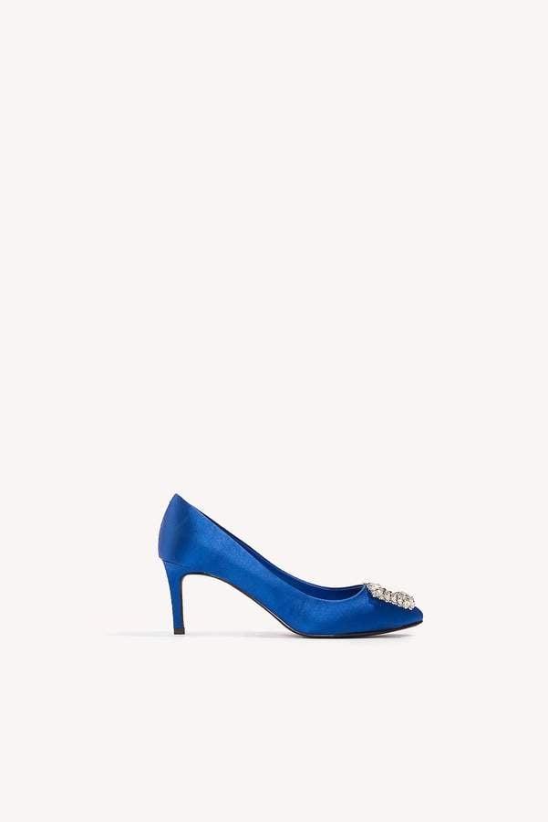 470300f3bf0 NA-KD Embellished Mid Heel Satin Pumps   Taylor Swift