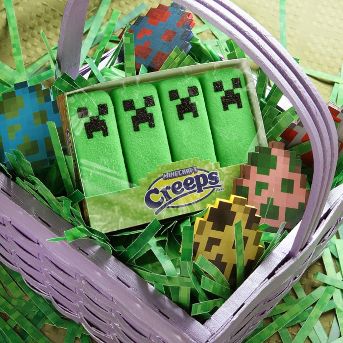 Chicks and bunnies are unoriginal, so put some Minecraft marshmallow creeps ($5) in that Easter basket instead.