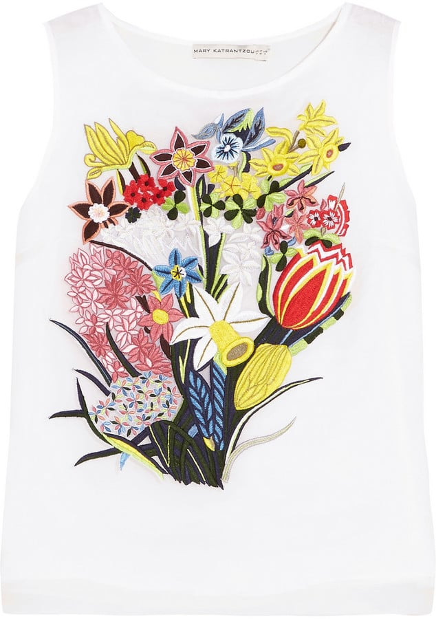 Mary Katrantzou Floral-Embroidered silk-organza top (£1,025)