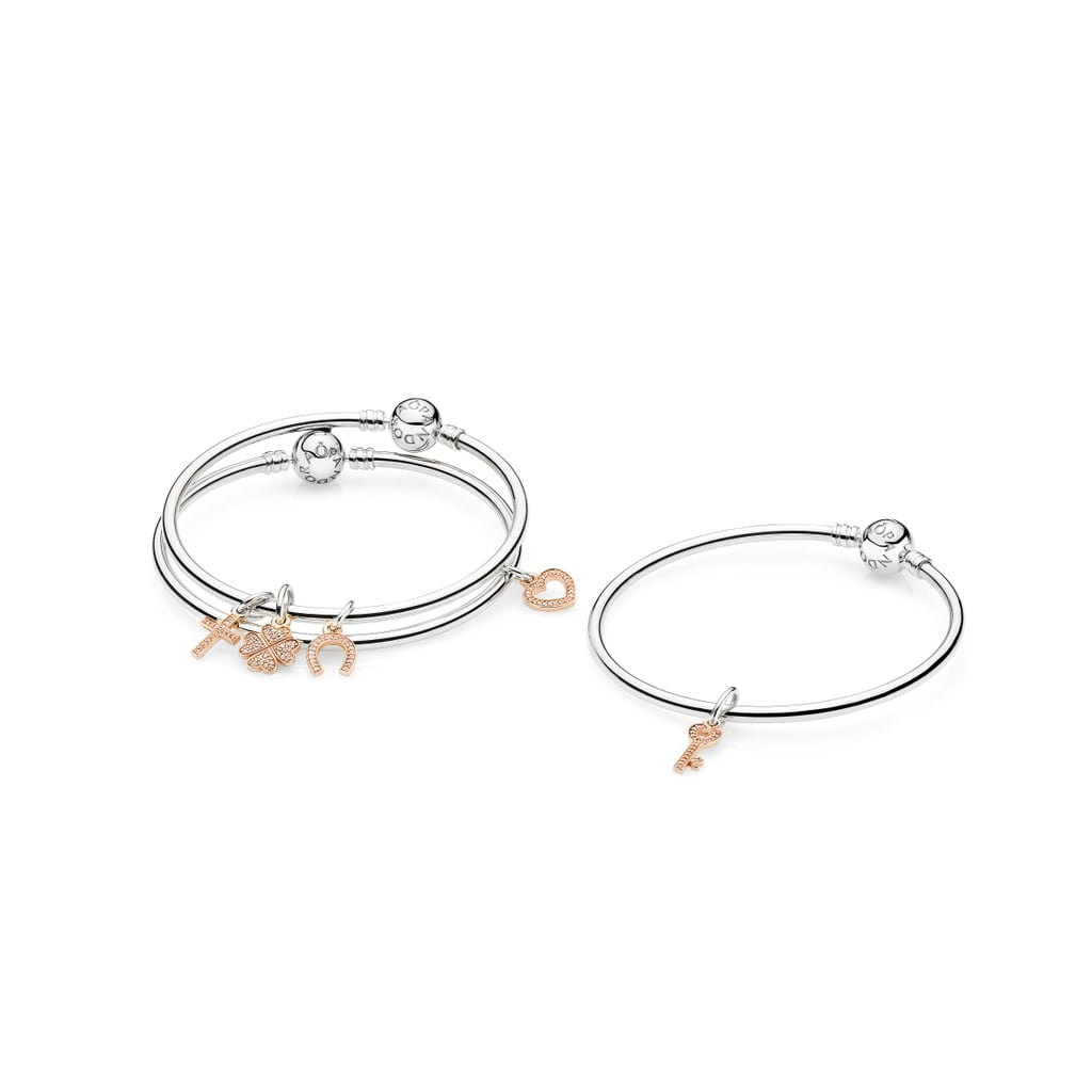 clover leaf bangle and alex product rose gold ani charm four bangles