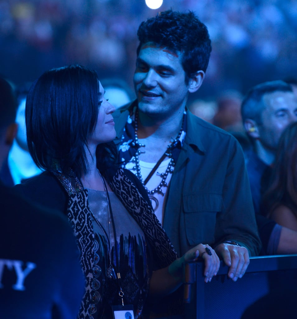 Katy and John Show Love at a Stones Show