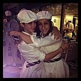 McKayla Maroney and Jordyn Weiber shared a hug in their closing ceremonies outfits. Source: Instagram user mckaylamaroney