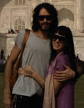 Pictures of Russell Brand and Katy Perry in India, Details of Their Wedding Including Katy's Dress and Ceremony