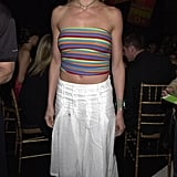 Cameron Diaz sported a cropped tube top backstage at the 2001 show.