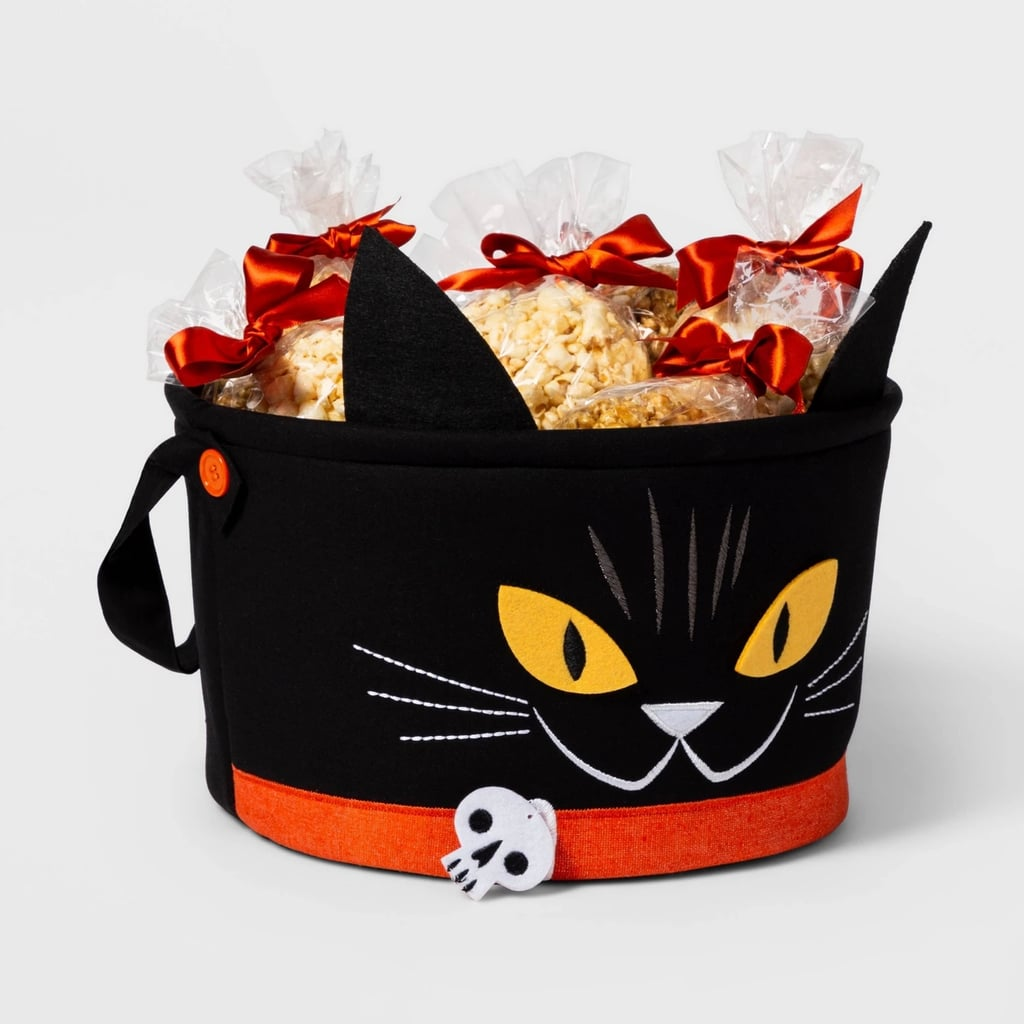 Cat Fabric Halloween Candy Basket