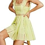 Free People Verona Lace Trim Minidress