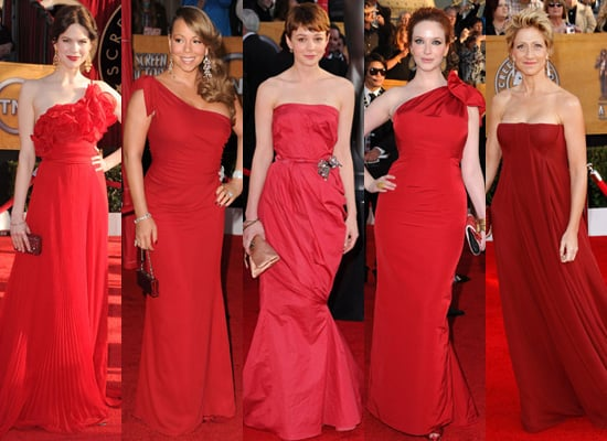 Red Dresses at 2010 Screen Actors Guild Awards