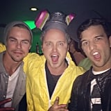 Derek Hough watched the Breaking Bad series finale with one of its stars, Aaron Paul. Source: Instagram user derekhough