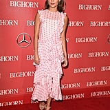 Alicia stayed feminine in this ruffled pink Erdem number at the Palm Springs International Film Festival Awards gala.