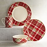Haddington Plaid Porcelain Dinner Plate ($9), Salad Plate ($8), Bowl ($8) and Mug ($8)