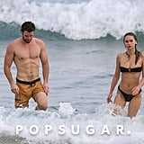 Liam Hemsworth and Gabriella Brooks in Australia March 2020