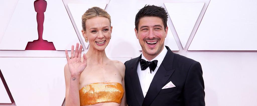 Carey Mulligan and Marcus Mumford at the Oscars 2021
