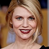 Claire's vampy lip hue at this year's SAG Awards was like a blast from the past, as she's lately been seen with softer, lighter shades on the red carpet.