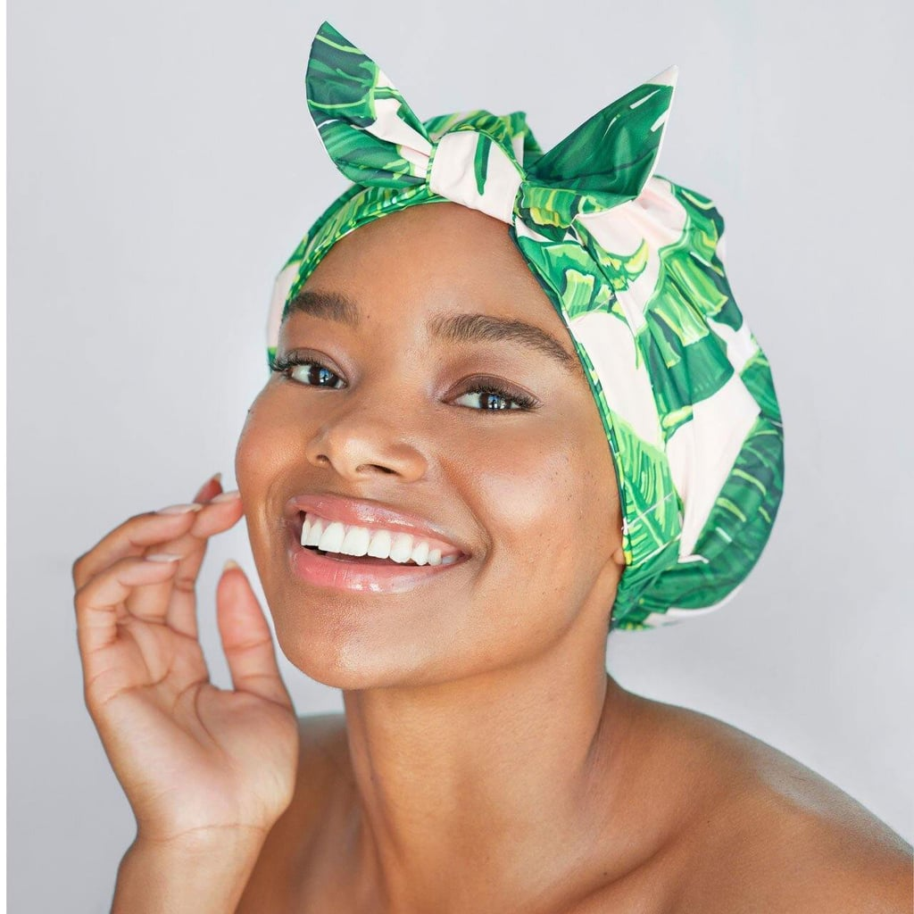 Kitsch Luxe Palm Leaf Shower Cap
