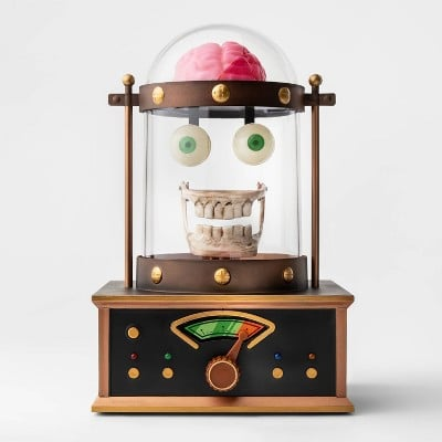 Animated Taking Skull in Cloche Halloween