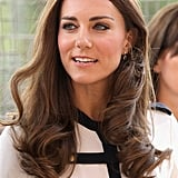 Kate, Duchess of Cambridge, with curly hair.