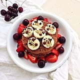 Fight sore muscles post-workout by topping your pancakes with ripe cherries. Source: Instagram user aednat