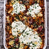 Four Cheese Sun-Dried Tomato and Spinach Pasta Bake