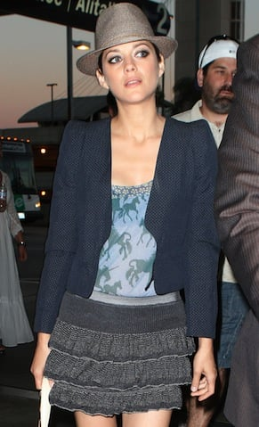 Pictures of Marion Cotillard in Tiered Miniskirt
