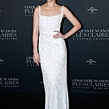 Dakota Johnson's White Dress at Fifty Shades Freed Premiere