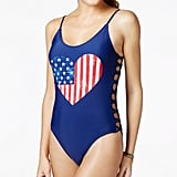 California Waves American Flag Cutout One-Piece Swimsuit ($56)