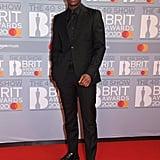 Micheal Ward at the 2020 BRIT Awards in London