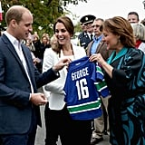 The Duchess of  Wearing Zara Jeans and Blazer in Canada 2016