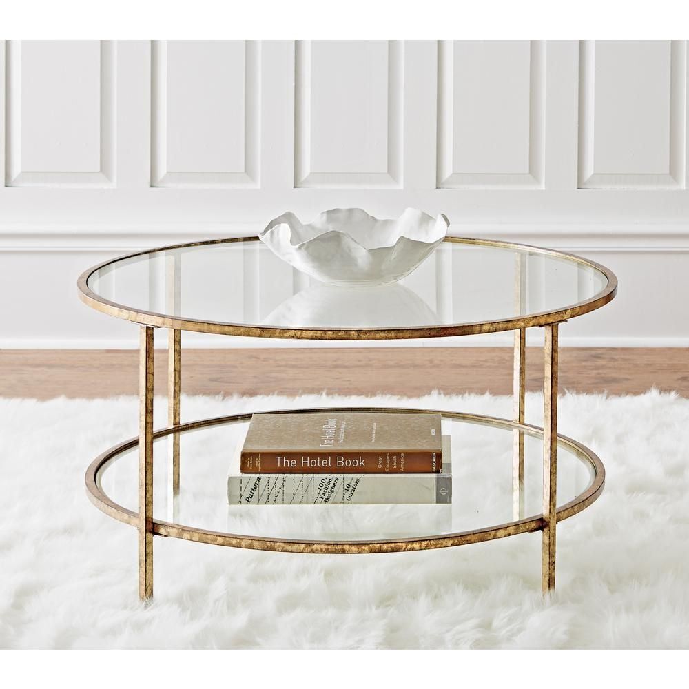 Home Decorators Collection Bella Aged Gold Coffee Table
